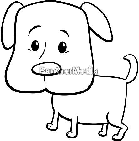 cartoon puppy dog character color book