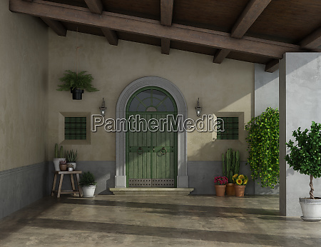 porch of an old country house