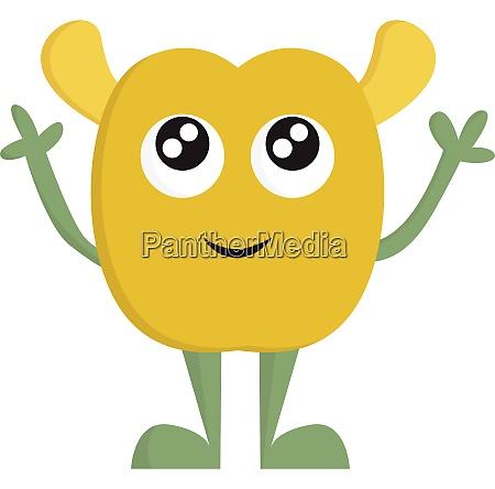 a yellow baby alien vector or