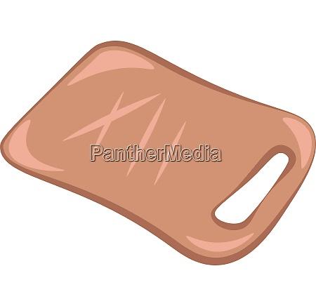 a light brown chopping board vector