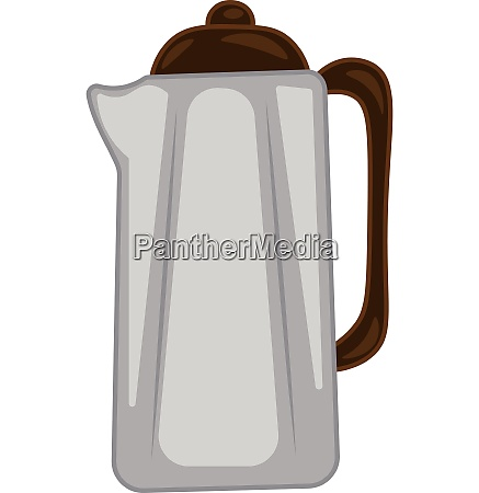 large transparent coffee pot vector or
