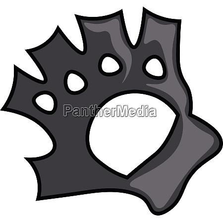 black colored fingerless biker gloves vector