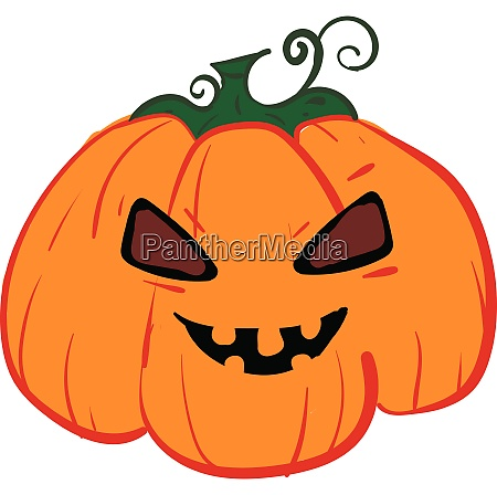 the devilish big fat orange pumpkin