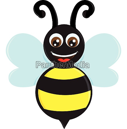 the happy bee vector or color
