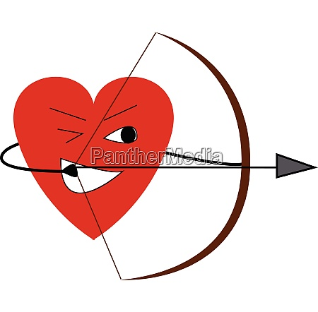 the happy heart with the bow