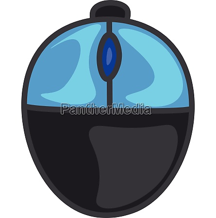 cartoon two button office mouse in