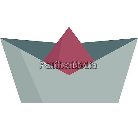 cartoon multi colored paper boat vector