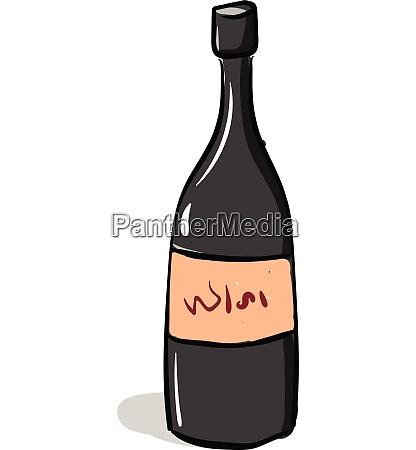 cartoon red wine bottle vector or