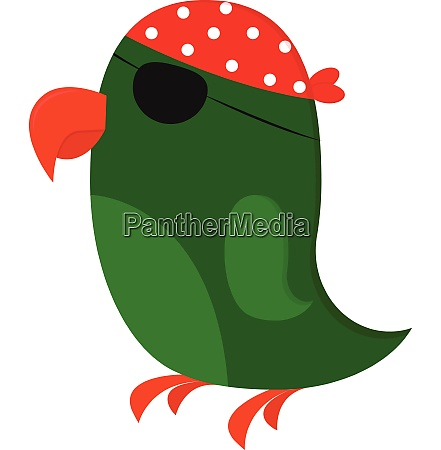 clipart of a green pirates parrot