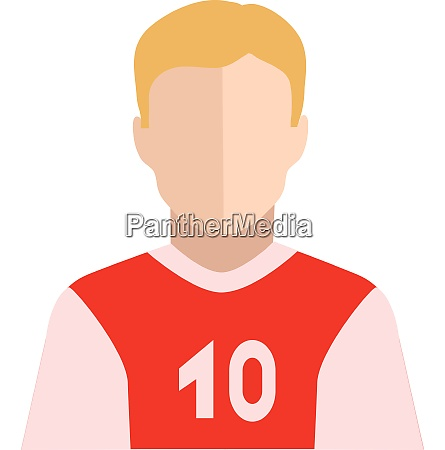 the clipart of a player with