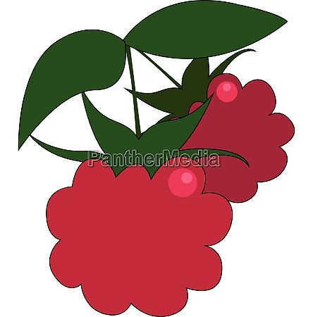 clipart of two red fresh looking