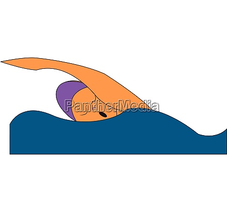 clipart of a swimmer in a