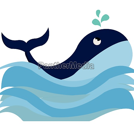 clipart of a blue colored whale