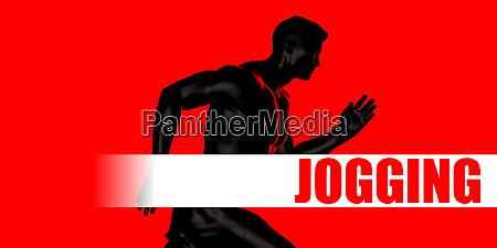 jogging concept