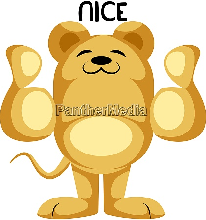 yellow mouse showing thumbs up vector