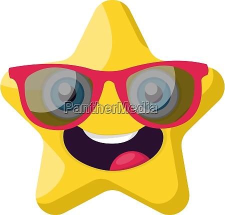 cute yellow star emoji with pink