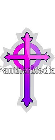 purple presbyterian cross vector illustration on
