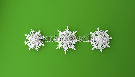 modern christmas background with snowflakes on