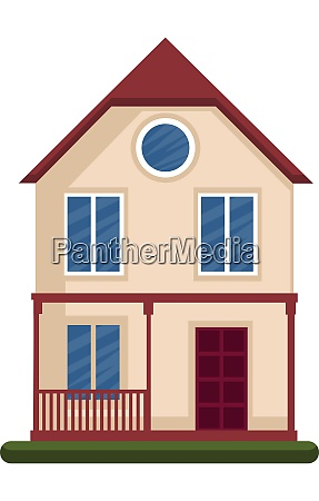 modern vector illustration of a house