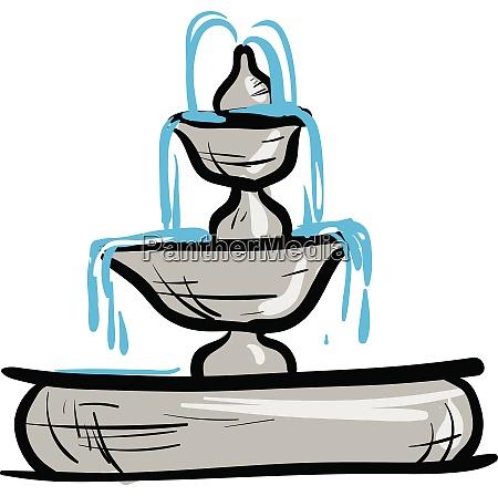 little water fountain illustration vector on