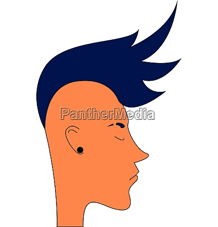 guy with blue mohawk hairstyle
