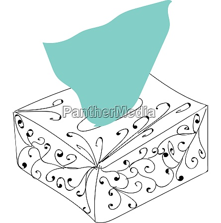 paper napkins from the box illustration