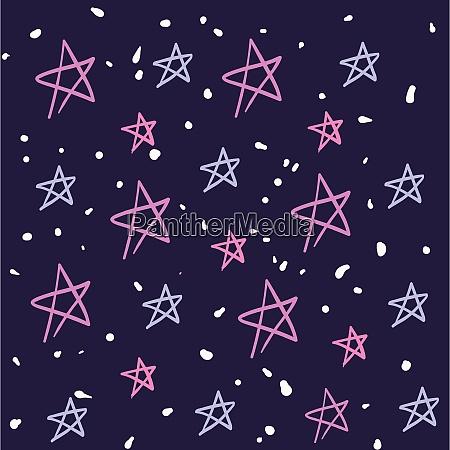 pink stars background illustration vector on