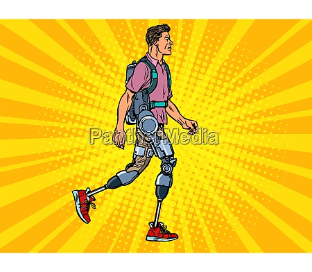 exoskeleton for the disabled a man