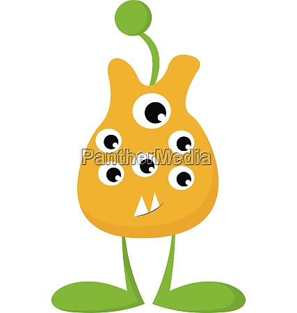 clipart of yellow colored monster with