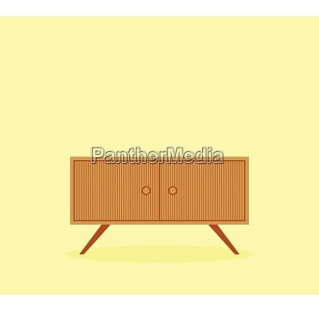 modern wooden furniture vector or color