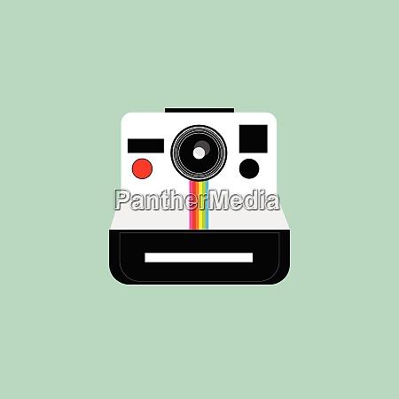 a polaroid camera vector or color