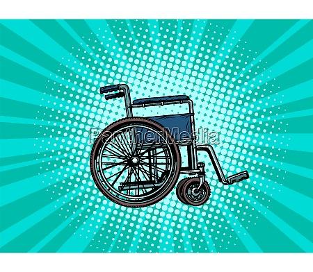 empty wheelchair human health rehabilitation and