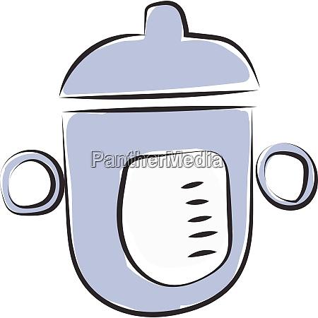 a blue feeding bottle vector or