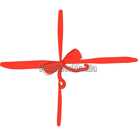 a red color bow vector or
