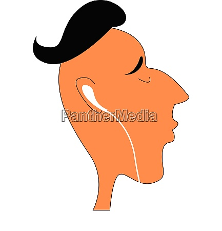 a boy with headphones vector or