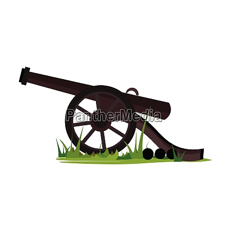 canon on grass vector or color
