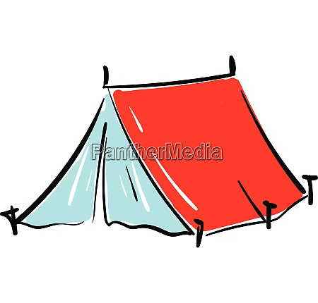 red, tent, illustration, vector, on, white - 27501030