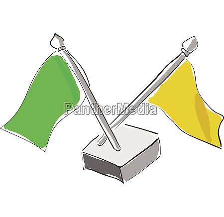national flags vector or color illustration