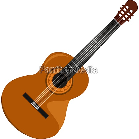 a beautiful guitar vector or color