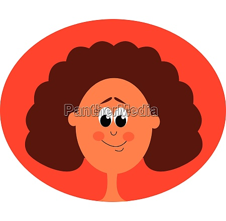 a happy portrait girl vector or