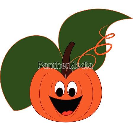 a happy pumpkin vector or color