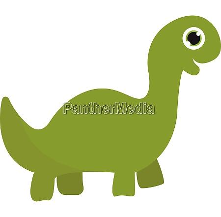 a green dinosaur vector or color