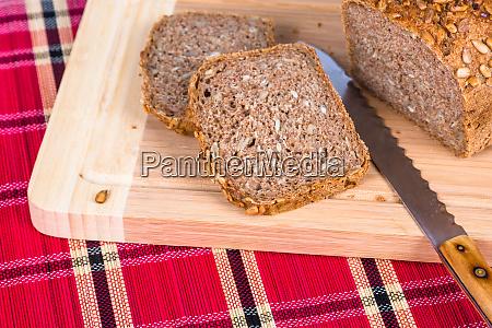 fresh full grain bread