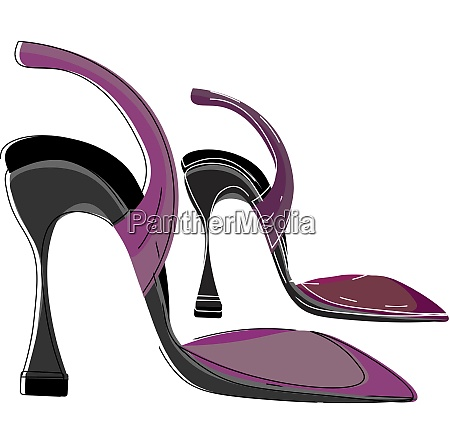 high heel shoes vector or color