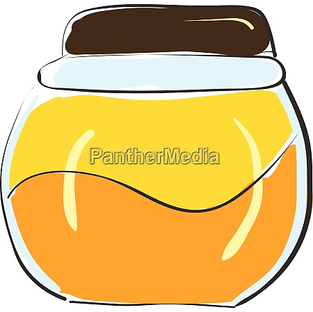 honey in a glass container vector