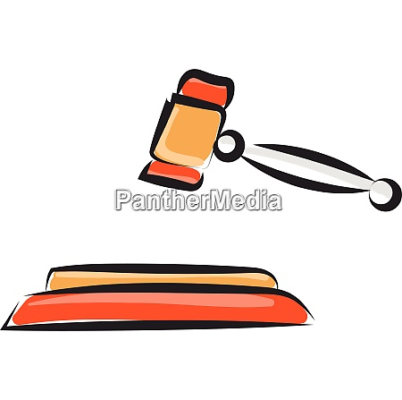 judges gavel vector or color illustration