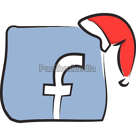 facebook logo with hat vector or