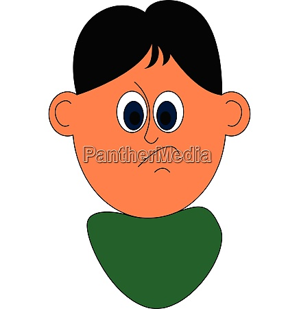 mad boy vector or color illustration
