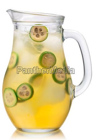 iced feijoa lemonade jug paths
