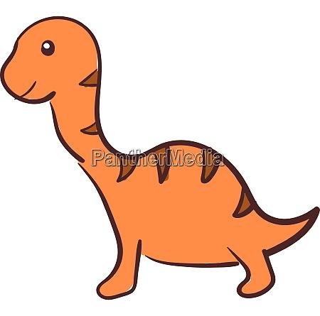 orange dinosaur vector or color illustration